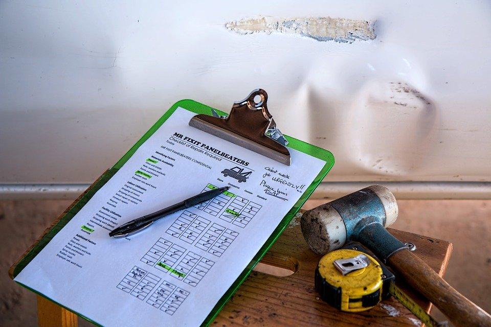 Insurance, Damage, Repair, Checklist, Quotation